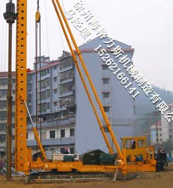 灰土挤密桩机 锤击沉管灰土桩施工设备 高清图片