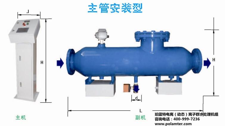 珀蓝特电离(动态)离子群水处理机组厂家