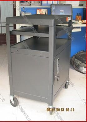 专业供应PB97-E带柜带拖出电脑键盘投影机移动车