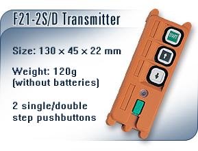 单速电动葫芦遥控器 F21-2D工业无线遥控器
