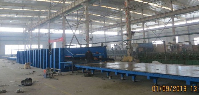 厢式货车车箱体板生产设备