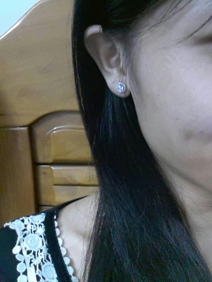 不褪色镶钻耳饰情人节礼物SONA钻石