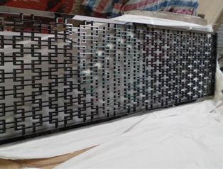 山西黑钛不锈钢外墙隔断中式花格屏风-ISA亚钢