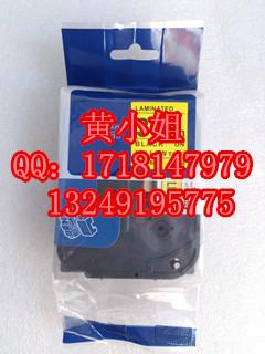 兄弟标签色带TZ-661国产三代36mm黄底黑字环保覆膜贴纸贴普