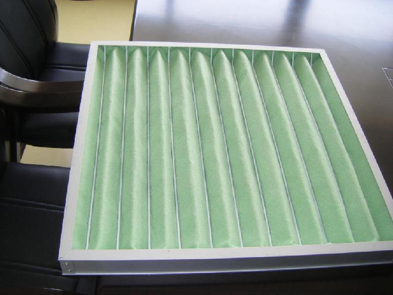 初效折叠纸框过滤网 空调网 纸框折叠过滤器 纸框粗效过滤网
