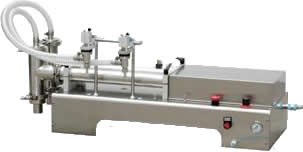双头气动灌装机 活塞式液体灌装机 河南灌装机厂家