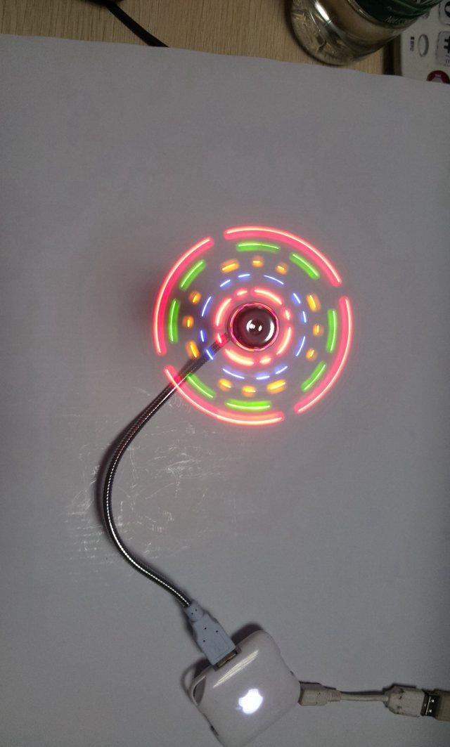 USB电子发光类风扇