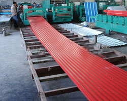 高多层钢结构都喜欢用850水波纹压瓦机板型
