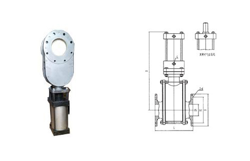 SZ643G型气动平行双闸板增韧陶瓷水渣阀