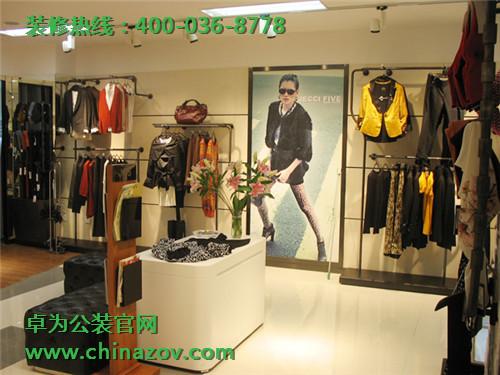长沙服装店效果图 服装店装修巧用色彩装饰