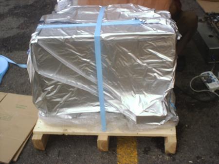 苏州钢带木箱 常熟真空包装箱 木轴