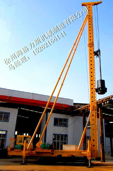 柴油锤打桩机施工预制管桩方桩