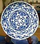 景德镇瓷盘 青花瓷盘 手绘挂盘 装饰瓷盘