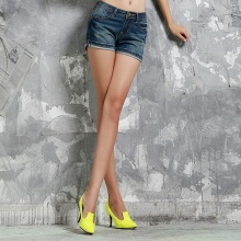2014春夏新款女装牛仔短裤女装牛仔热裤