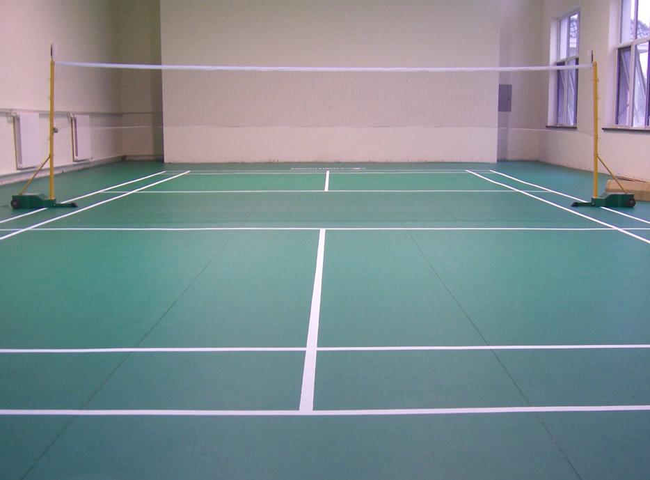 济南华兴体育承接PVC运动地板铺设