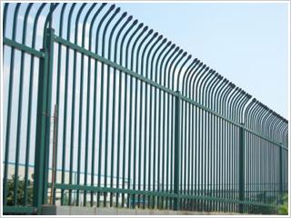 锌钢护栏D型单向弯头-带弯栅栏网---防盗栅栏网