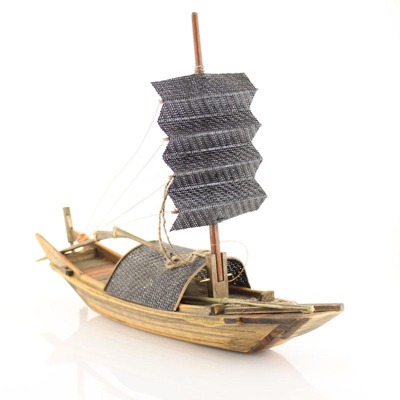 纯手工木船模型