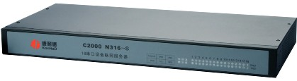 康耐德C2000 N316 16串口服务器,多串口设备联网服务器