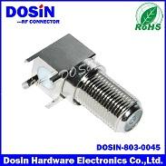 F型射频同轴连接器,90°四角焊板F头F接插件