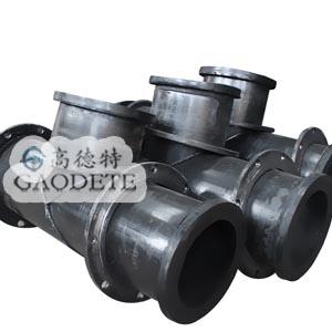 超高分子量聚乙烯三通管、聚乙烯管道、耐磨管道