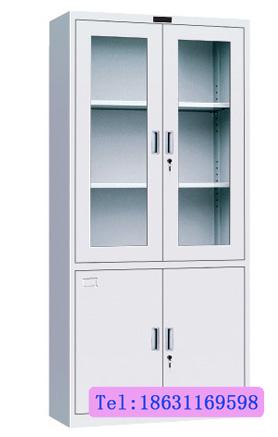石家庄批发玻璃柜文件柜 双开门大器械文件柜的厂家直销 高玻器械柜