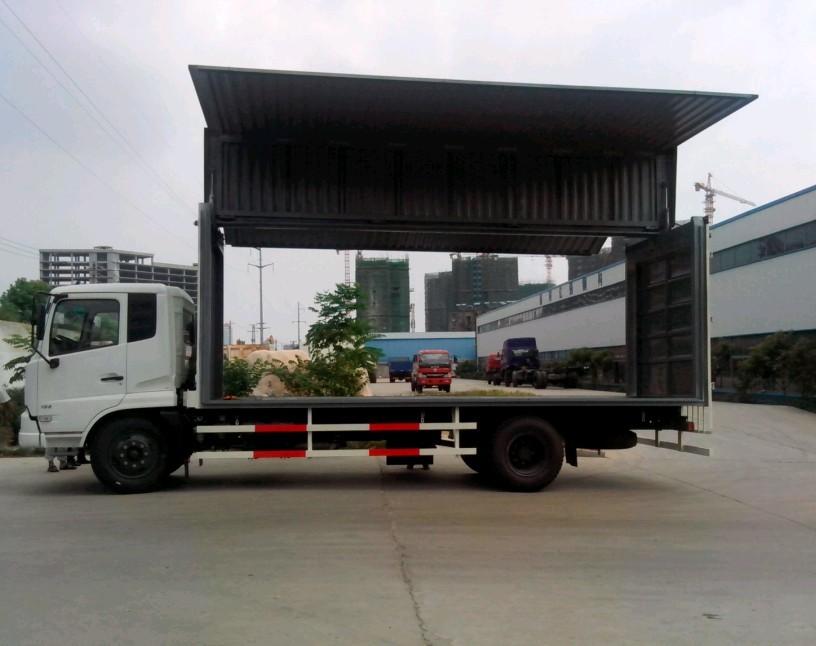 东风天锦6米2侧翼开启厢式车