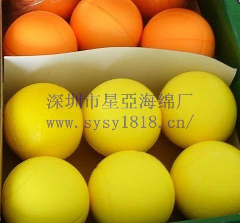 颜色异形海绵球、环保无公害PU玩具球、弹性海绵球