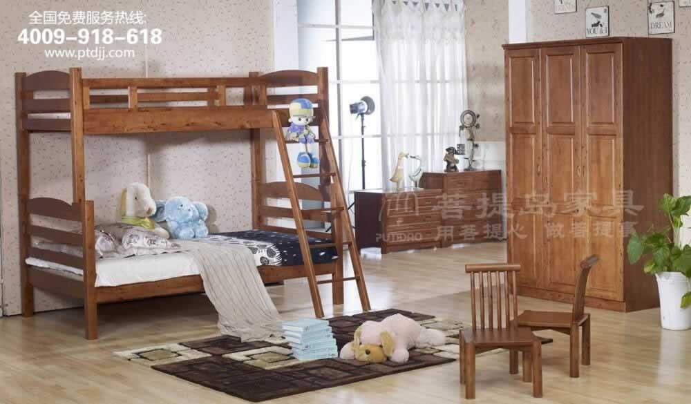 香柏木踢踏子母床       上海菩提岛家具有限公司
