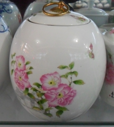 陶瓷罐子,茶叶罐订做,景德镇山水密封罐,装米罐