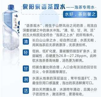供应泉阳泉3L泡茶专用水 语茶观水