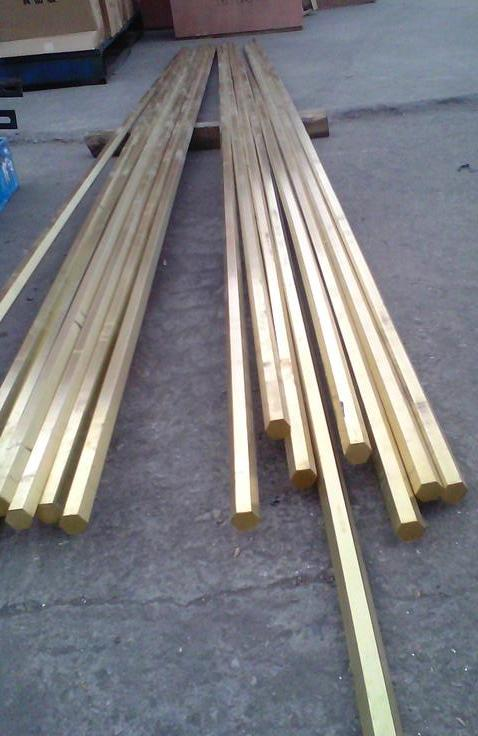 H59易车削黄铜棒 H60无铅六角黄铜棒
