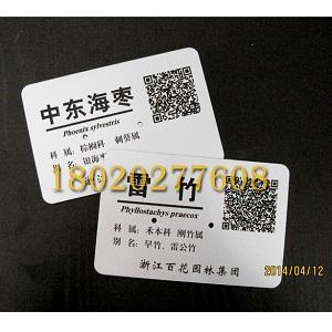 二维码树牌制作,二维码植物标牌,二维码树木标牌