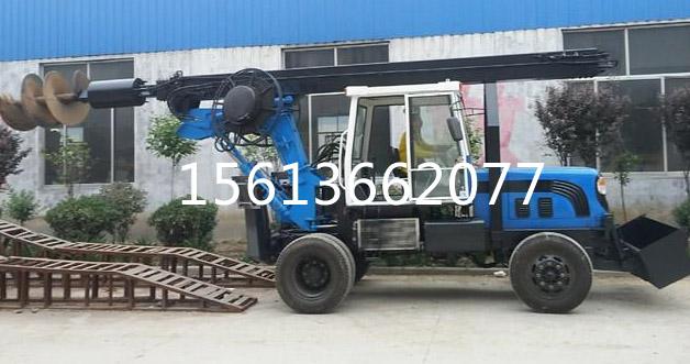 钻坑机 装载机打桩机 挖掘机打桩机