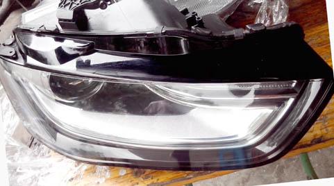 12款奥迪A4大灯 机盖 中网 电动空调面板 方向盘 ABS泵