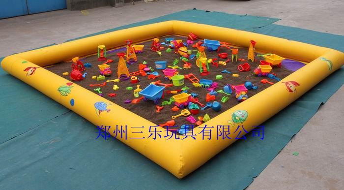 河北儿童充气沙滩池/决明子充气沙池多少钱