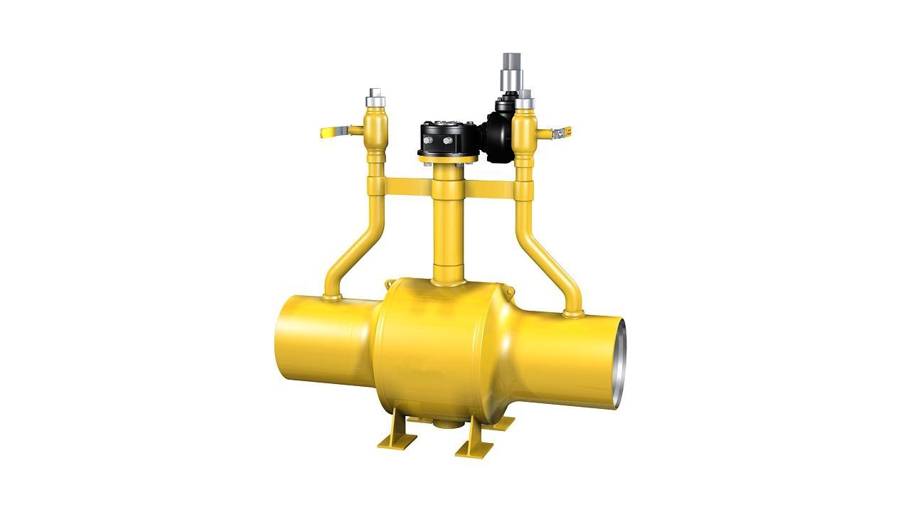 焊接燃气球阀,广泛应用于城市燃气的地下管线, 天然气地下输送管线图片