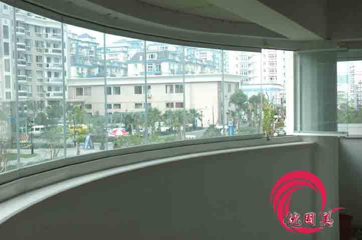 深圳无框阳台窗无框封阳台钢化玻璃窗