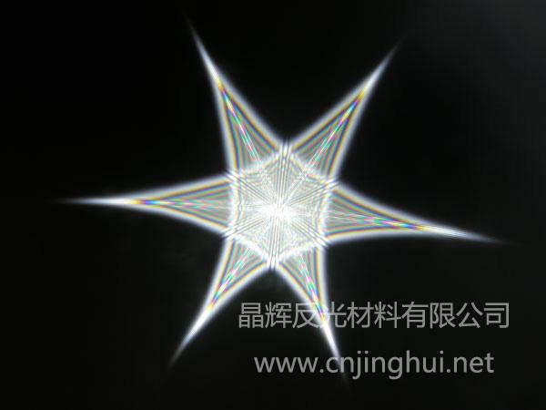 玩具灯PVC雷射发光材料:龙卷风,六叶花,小六角星,六角双星等反