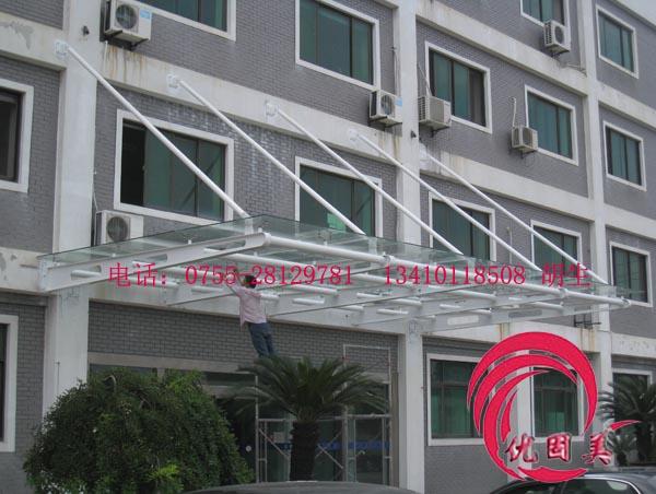 深圳钢结构玻璃雨棚不锈钢雨棚