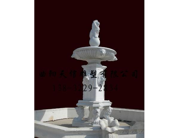 石雕喷泉雕刻价格-天信雕塑
