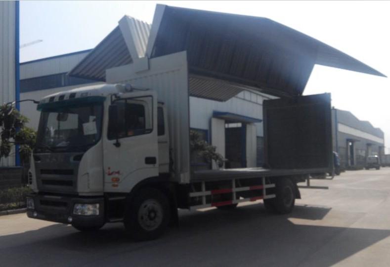 江淮9米5展翼车9米5侧翼开启厢式车