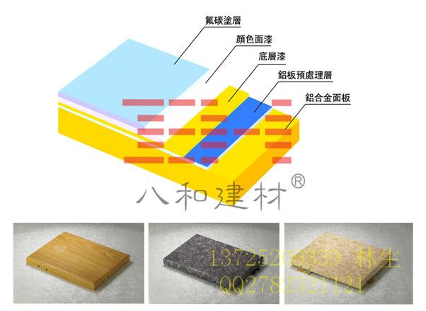 专业聚酯油漆氟碳烤漆木纹铝单板厂家/八和建材