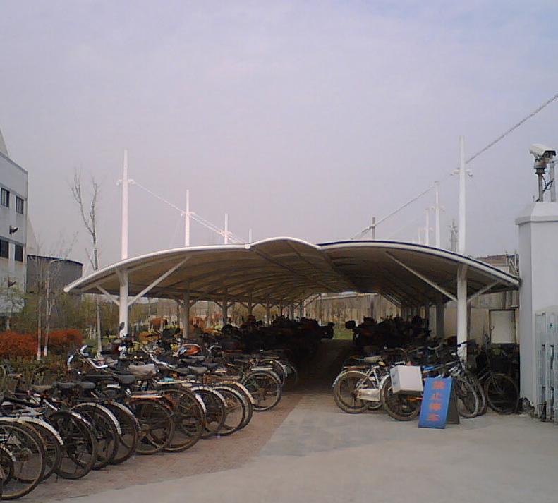 供应义乌膜结构车棚金华膜结构停车棚兰溪遮阳棚