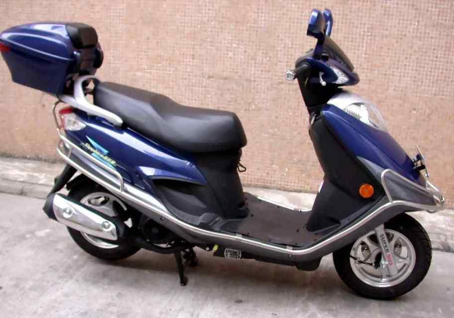 豪爵铃木蓝巨星HJ125T-8踏板车价格