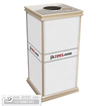 小区分类果皮桶果壳箱 客房皮革垃圾桶收纳桶