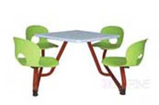 快餐桌椅系列 塑钢快餐桌椅 塑钢餐椅 连体快餐桌椅子