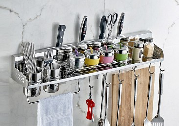 太空铝收纳刀架调味架筷子架厨卫生产厂家浙江温州海城