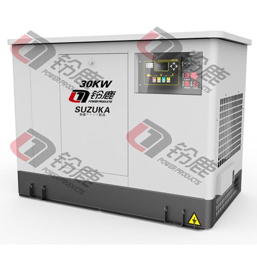 高端品牌铃鹿SHL30T30KW静音汽油发电机