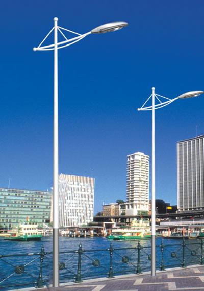 路灯杆设计与环境有着整体联系