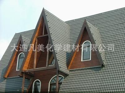 木结构别墅 移动木屋 防水装饰瓦 黑灰色仿古琉璃轻质瓦